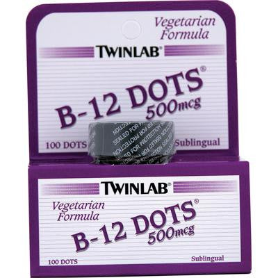 Picture of Twinlab B-12 Sublingual Dots - 500 mcg - 100 Tablets