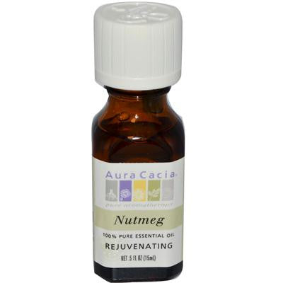 Picture of Aura Cacia Pure Essential Oil Nutmeg - 0.5 fl oz