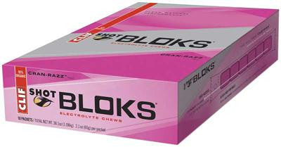 Picture of Clif Bar Clif Shot Bloks - Organic Cranberry - Case of 18 - 2.1 oz