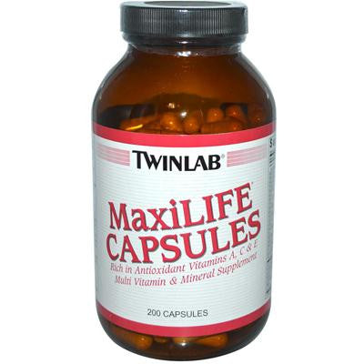 Picture of Twinlab MaxiLIFE Multi-Vitamin and Mineral Supplement - 200 Capsules