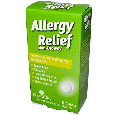 Picture of NatraBio Allergy Relief Non-Drowsy - 60 Tablets