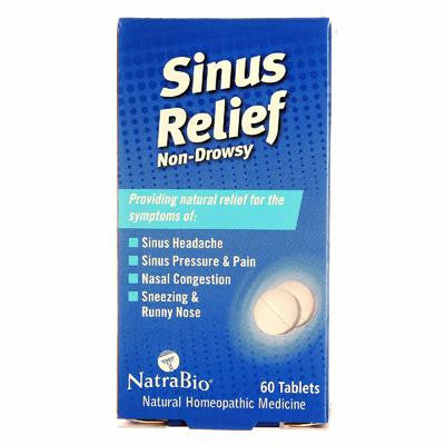 Picture of NatraBio Sinus Relief Non-Drowsy - 60 Tablets