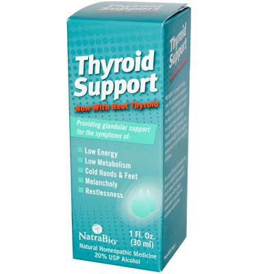 Picture of NatraBio Thyroid Support Formula - 1 fl oz