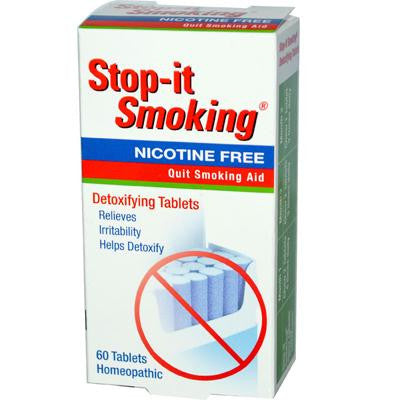 Picture of NatraBio Stop-It Smoking Detoxifying - 60 Tablets