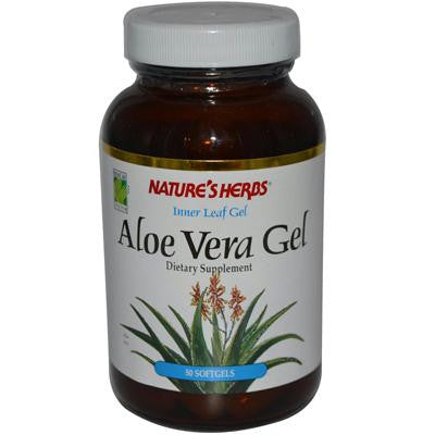 Picture of Nature's Herbs Aloe Vera Inner Leaf Gel - 50 Softgels