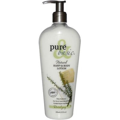Picture of Pure and Basic Natural Revitalizing Hand and Body Lotion - 12 oz