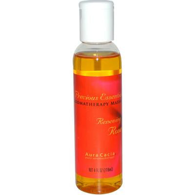 Picture of Aura Cacia Precious Essentials Aromatherapy Renewing Rose Massage Oil - 4 fl oz