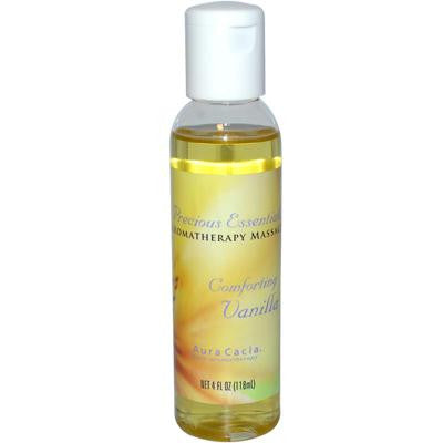 Picture of Aura Cacia Precious Essentials Aromatherapy Massage Comforting Vanilla - 4 oz