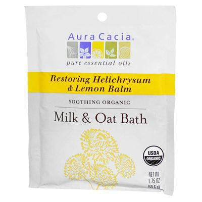 Picture of Aura Cacia Organic Milk and Oat Bath Restoring Helichrysum and Lemon Balm - Case of 6 - 1.75 oz