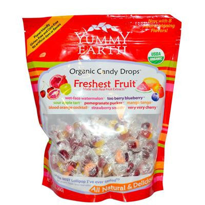Picture of Yummy Earth Organic Candy Drops Freshest Fruit - Case of 12 - 13 oz