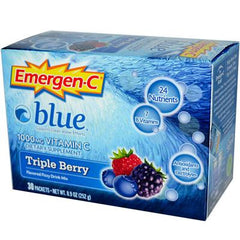Alacer Emergen-C Blue Fizzy Drink Mix Berry Blue - 1000 mg - 30 Packets