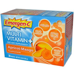 Alacer Emergen-C Multi-Vitamin Plus Fizzy Drink Mix Apricot-Mango - 30 Packets
