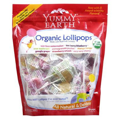 Picture of Yummy Earth Organics - Lollipops - 50 Pops - Assorted Flavors - 12.3 oz