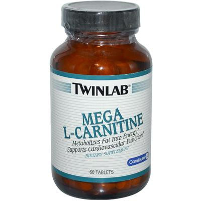 Picture of Twinlab Mega L-Carnitine - 500 mg - 60 Tablets