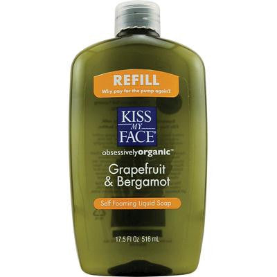 Picture of Kiss My Face Liquid Soap Self Foaming Grapefruit and Bergamot Refill - 17.5 fl oz