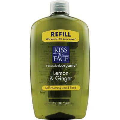 Picture of Kiss My Face Liquid Soap Self Foaming Lemon and Ginger Refill - 17.5 fl oz