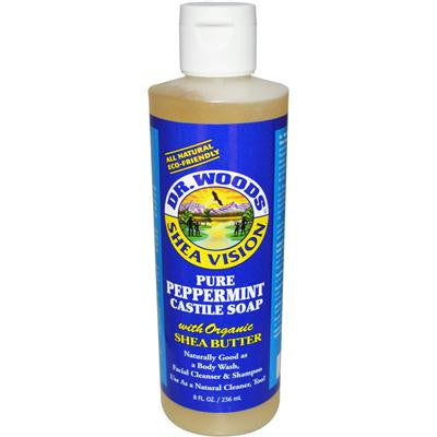 Picture of Dr. Woods Shea Vision Pure Castile Soap Peppemint with Organic Shea Butter - 8 fl oz
