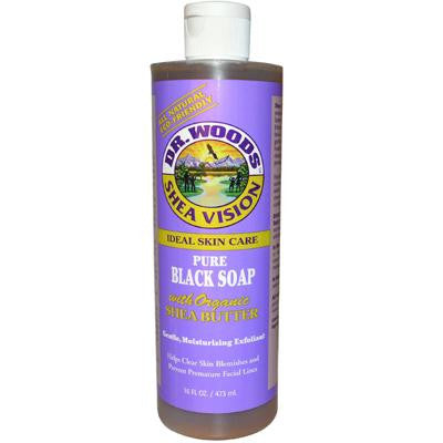 Picture of Dr. Woods Shea Vision Pure Black Soap with Organic Shea Butter - 16 fl oz
