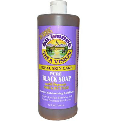 Picture of Dr. Woods Shea Vision Pure Black Soap with Organic Shea Butter - 32 fl oz