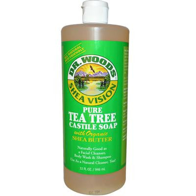 Picture of Dr. Woods Shea Vision Pure Castile Soap Tea Tree - 32 fl oz