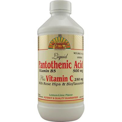 Picture of Dynamic Health Liquid Pantothenic Acid plus Vitamin C Lemon Lime - 8 fl oz