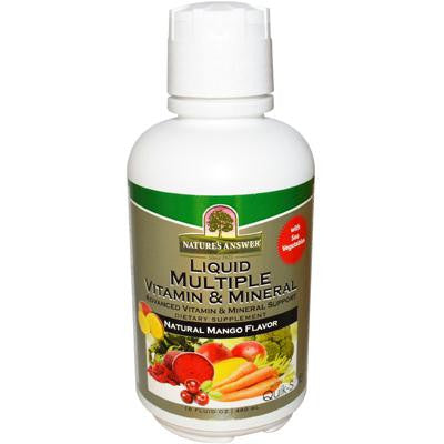 Picture of Nature's Answer Liquid Multiple Vitamin and Mineral - Natural Mango Flavor - 16 fl oz