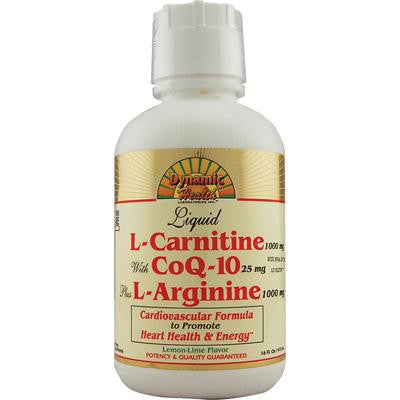 Picture of Dynamic Health Liquid L-Carnitine with CoQ-10 plus L-Arginine Lemon Lime - 16 fl oz