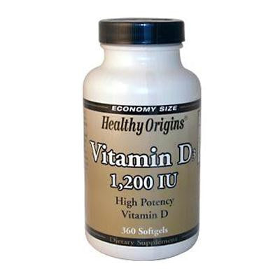 Picture of Healthy Origins Vitamin D3 - 1200 IU - 360 Softgels