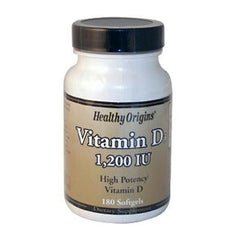 Healthy Origins Vitamin D3 - 1200 IU - 180 Softgels