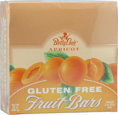 Picture of Betty Lou's Fruit Bar Apricot - Gluten Free - Case of 12 - 2 oz