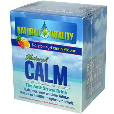 Picture of Natural Vitality Magnesium Natural Calm Raspberry Lemon - 30 Packets