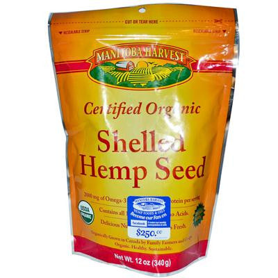 Picture of Manitoba Harvest Certified Organic Shelled Hemp Seed- Case of 6 - 12 oz