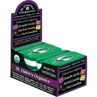 Picture of St Claire's Organic Spearmints Display Case - Case of 6 - 1.5 oz