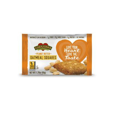 Picture of Corazonas Oatmeal Squares - Peanut Butter - Case of 12 - 1.76 oz