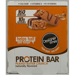 Designer Whey Protein Bars Peanut Butter Crunch - 12 Bars