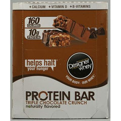 Designer Whey Protein Bars Triple Chocolate Crunch - 12 Bars