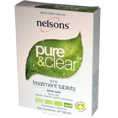 Picture of Nelsons Pure and Clear Acne Treatment Tablets - 48 Tablets