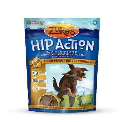 Picture of Zuke's Hip Action Dog Treats - Peanut Butter Formula - Case of 12 - 6 oz