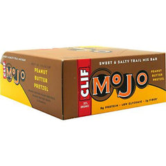 Clif Bar Mojo Bar - Organic Peanut Butter Pretzel - Case of 12 - 1.59 oz