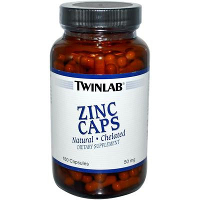 Picture of Twinlab Zinc Caps - 50 mg - 180 Capsules