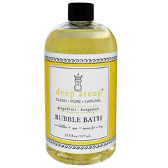 Deep Steep Bubble Bath Grapefruit Bergamot - 17 fl oz