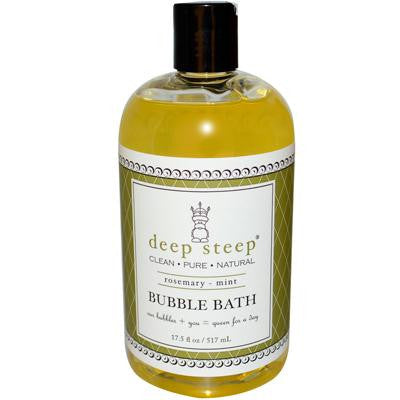 Picture of Deep Steep Bubble Bath Rosemary Mint - 17 fl oz