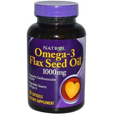 Picture of Natrol Omega-3 Flax Seed Oil - 1000 mg - 90 Softgels