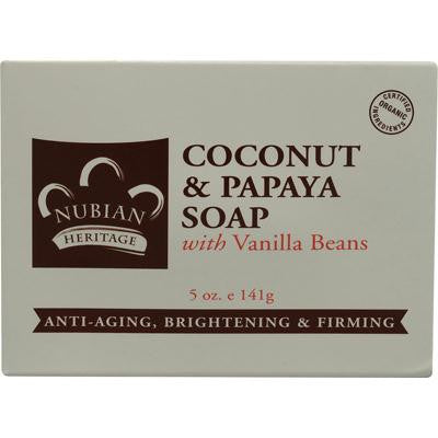 Picture of Nubian Heritage Bar Soap Coconut And Papaya with Vanilla Beans - 5 oz