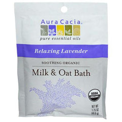 Aura Cacia Relaxing Lavender Milk and Oat Bath Organic - 1.75 oz - Case of 6
