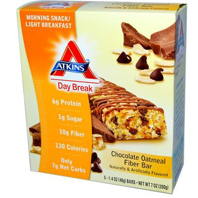 Picture of Atkins Day Break Bar Chocolate Oatmeal - 5 Bars