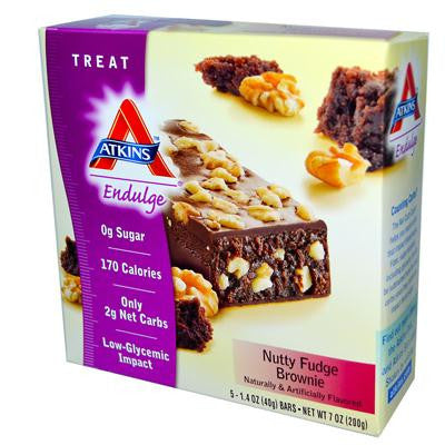 Picture of Atkins Endulge Bar Nutty Fudge Brownie - 5 Bars