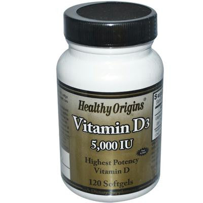 Picture of Healthy Origins Vitamin D3 - 5000 IU - 120 Softgels