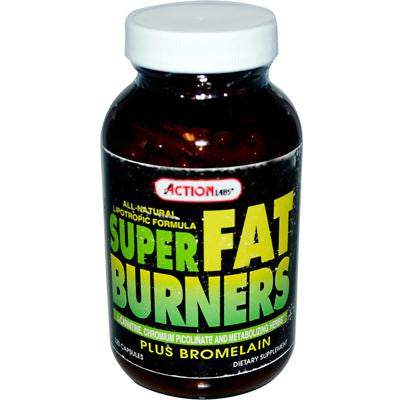 Picture of Action Labs Super Fat Burners plus Bromelain - 120 Capsules