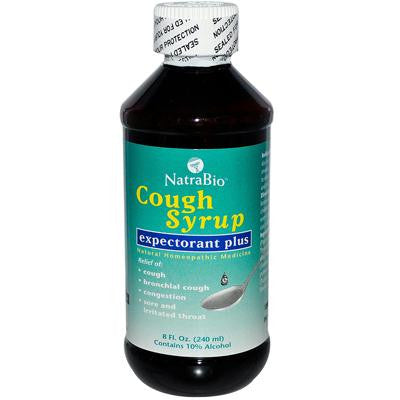 Picture of NatraBio Cough Syrup Expectorant Plus - 8 fl oz